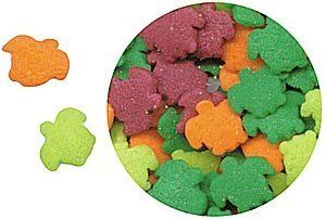 "Confetti Sea Turtles 2.8 oz. CONST by Edible Confetti by OTBP. Save 5 Off!. $2.60. Candy confetti can be sprinkled on cookies, ice cream, cakes, and more. Comes in a kid-friendly, 4"" tall plastic bottle with a screw top lid for easy dispensing."