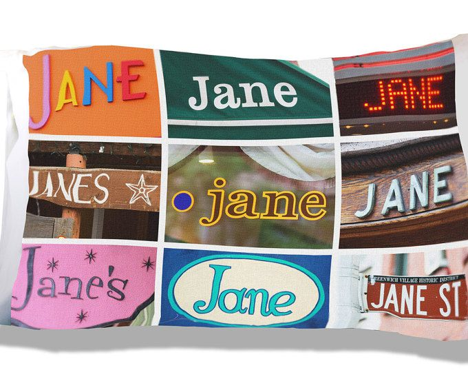 Personalized Pillow Cases featuring NAMES in sign photos
