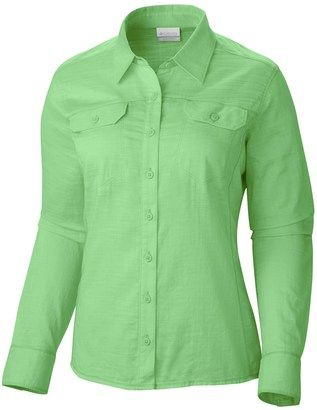 Columbia Sportswear Camp Henry Solid Shirt (For Women) - Shop for women's Shirt - Chameleon Green (02) Shirt