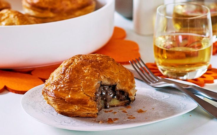 These creamy vegetarian delights bring a gourmet twist to the traditional Aussie pie. Leek, potatoes and mushroom ooze from these pithiviers while puffed pastry melts in your mouth. Recipe by the Australian Women's Weekly.