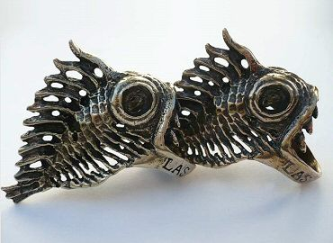 Deep Sea Fish Jewellery in Bronze by Lisa Soltis.