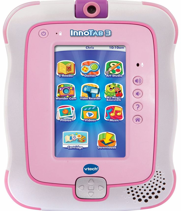 VTECH InnoTab 3 - Pink Why we love VTech InnoTab 3 1. Built-in 2 mega pixel rotating camera and video recorder 2. LCD colour touch screen and motion sensor 3. Features interactive games, e-reader, art studio, MP3 player and http://www.comparestoreprices.co.uk/educational-toys/vtech-innotab-3--pink.asp