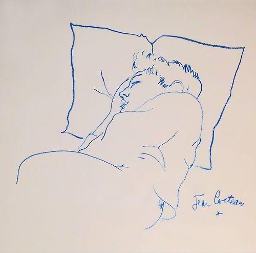 """Raymond Radiguet endormi"", Jean Cocteau.                                                                                                                                                                                 Plus"