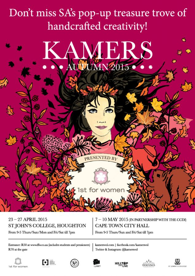 Don't miss KAMERS Autumn 2015 in Johannesburg, 23-27 April at St John's College and Cape Town 7-10 May at the City Hall.