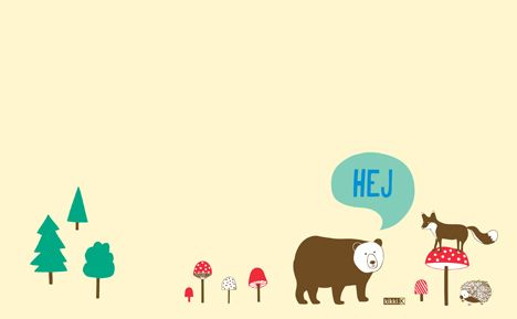 Forest Friends for your Desktop:  Embrace the gorgeous animals of the Swedish forest with these super cute desktop wallpapers inspired by our Forest Friends Collection. In bright hues, they're the perfect way to motivate you through the day at work or home.   Download the 1680x1050 Version or the 2520x1575 Version.