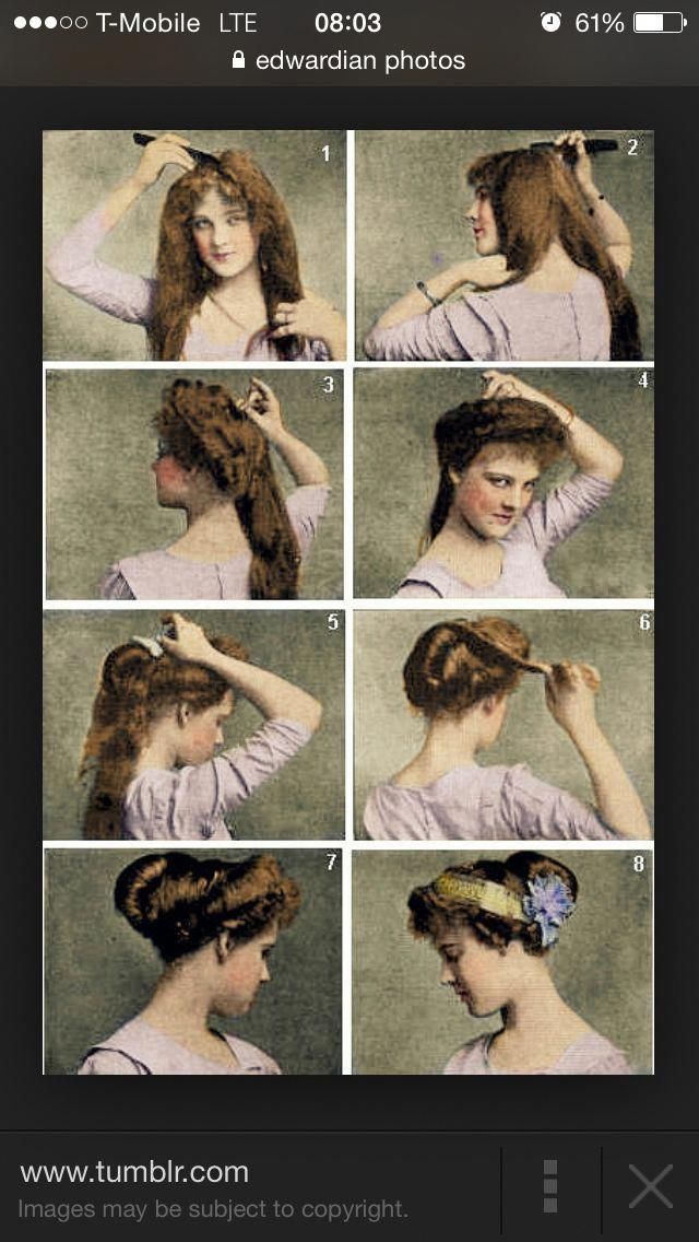 Victorian Hair Style Hair Style Victorian Shorthairdos Victorian Hairstyles Historical Hairstyles Vintage Hairstyles