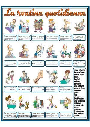 Choisir le verbe approprié et le mettre au présent - Fiches FLE