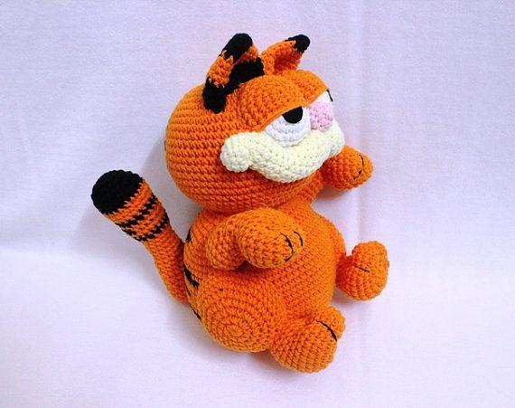 Super Cute Crochet Garfield, Orange Garfield, Ready to Ship