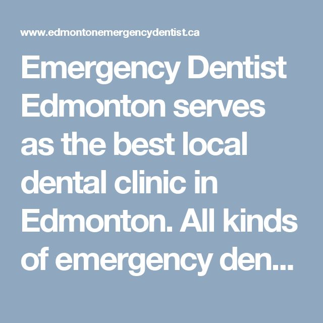 Emergency Dentist Edmonton serves as the best local dental clinic in Edmonton. All kinds of emergency dental services are offered here by their general dentists. When you are facing a dental health problem, don't worry their dentists will fully take care of your treatment.