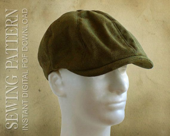SEWING PATTERN - Taylor, 1920's Gatsby Newsboy Driving Cap for Child or Adult #ad
