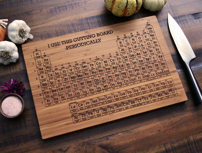 Personalized bamboo cutting board periodic by elysiumwoodworks periodic table - Periodic table chopping board ...