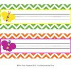 Rainbow Chevron Desk Name Plates - These sweet name plates are great for a rainbow chevron theme classroom.   They measure 10 inches wide by 3 inches tall. Print onto cardstock, writ...