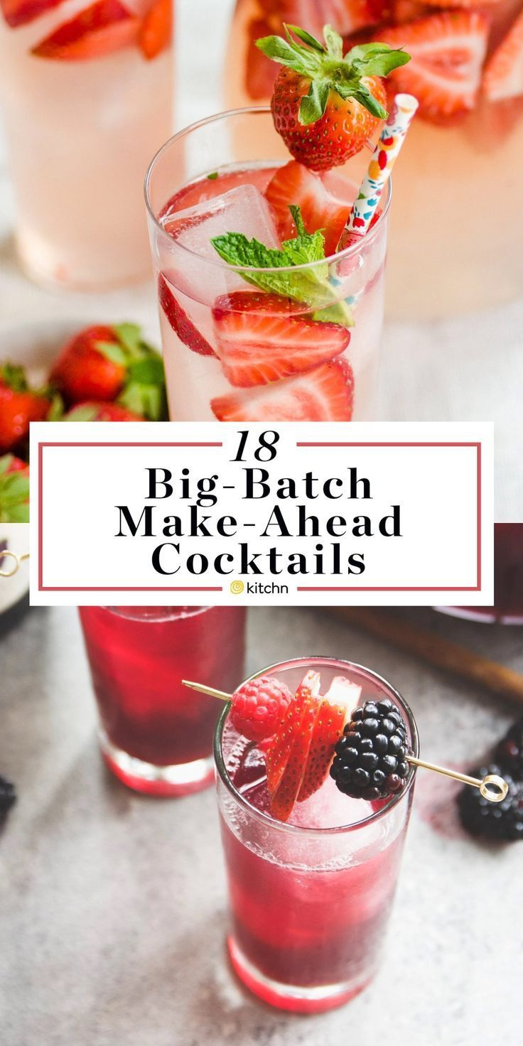 12 Big Batch Make Ahead Alcoholic Pitcher Cocktails These Boozy Drinks Or Beverages Are Great If Boozy Drinks Nonalcoholic Party Drinks Easy Alcoholic Drinks