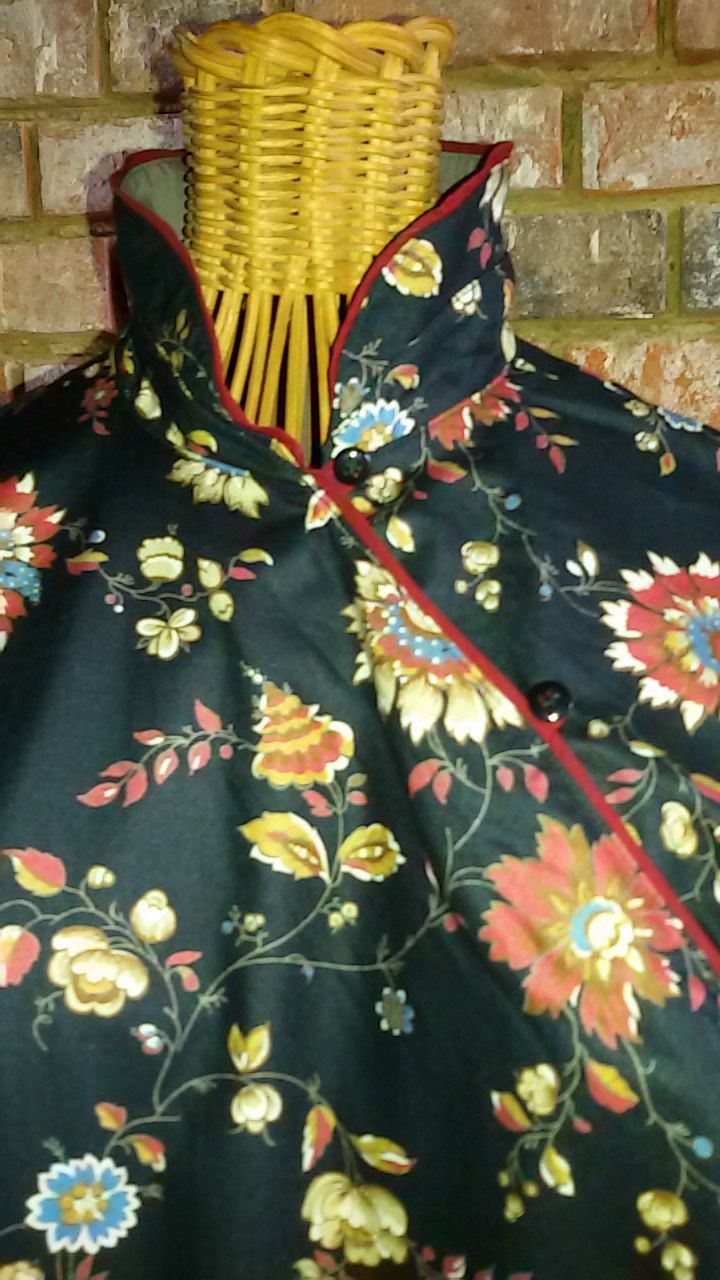 """KENZO Vintage """" Robe chinoise imprimé cachemire"""" Taille S -38/ 40 de la boutique SoPrettyJoliVintage sur Etsy"""