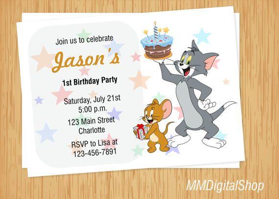 Tom y Jerry invitación invitación de Tom y Jerry dibujos