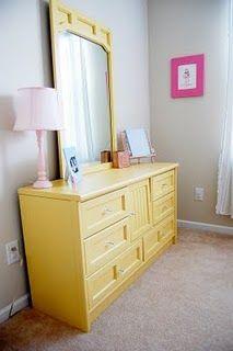 love, yellow dresser redo