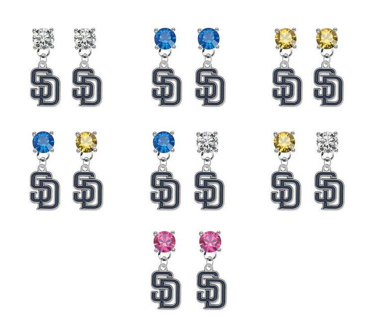 San Diego Padres MLB Swarovski Crystal Stud Rhinestone Earrings – SportsJewelryProShop