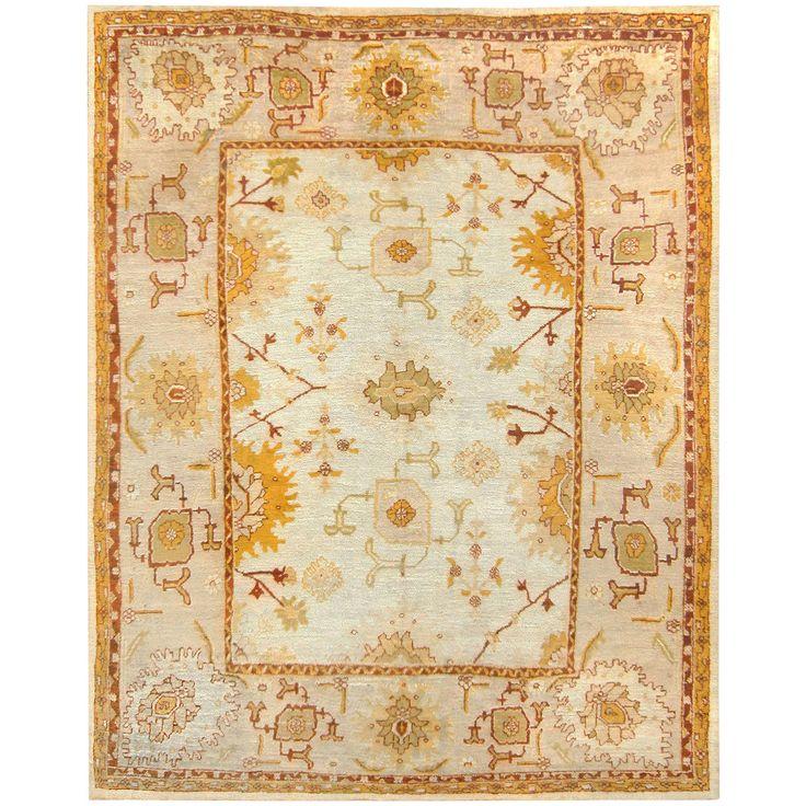 Modern Persian Tabriz Design Rug 44687 Nazmiyal Antique Rugs: Beautiful Light Colored Antique Turkish Oushak Carpet
