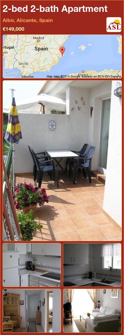 2-bed 2-bath Apartment in Albir, Alicante, Spain ►€149,000 #PropertyForSaleInSpain