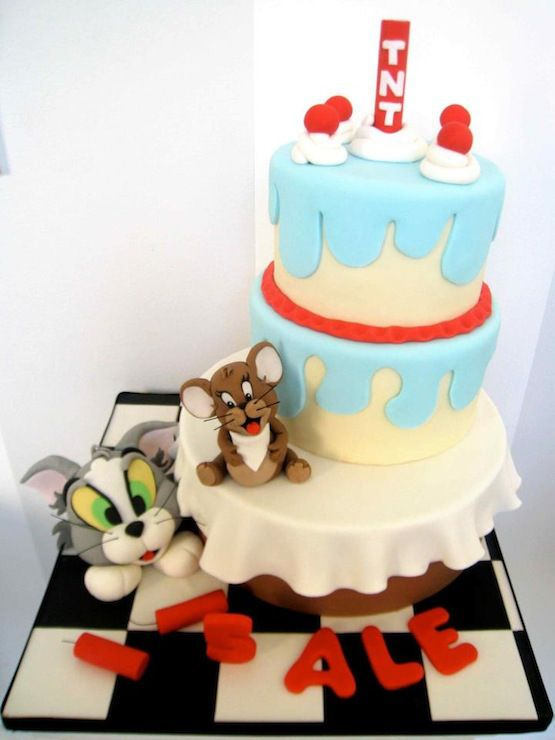 24 best Tom and Jerry Cakes images on Pinterest Tom and jerry