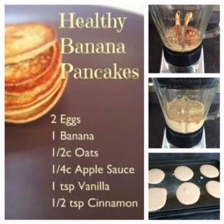 Honeybee Homemaker: 21-Day Fix RECIPE: Banana Pancakes 3 Pankcakes 1/2 yellow, 1/2 red, 1/2 purple