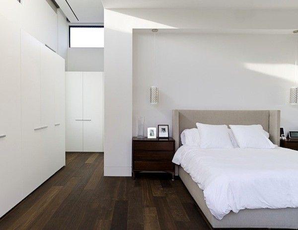 dark wood flooring bedroom