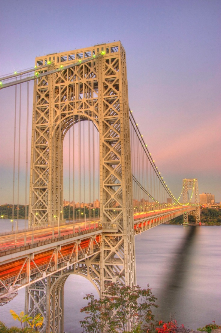 A shot of the George Washington Bridge from Fort Lee, NJ.