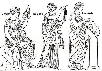 the Three Fates ... Clotho, Atropos, and Lachesis