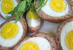 Scotch Eggs Photo : Jackie Cameron. Delicious with New Generation Eggs www.newgenerationeggs.co.za