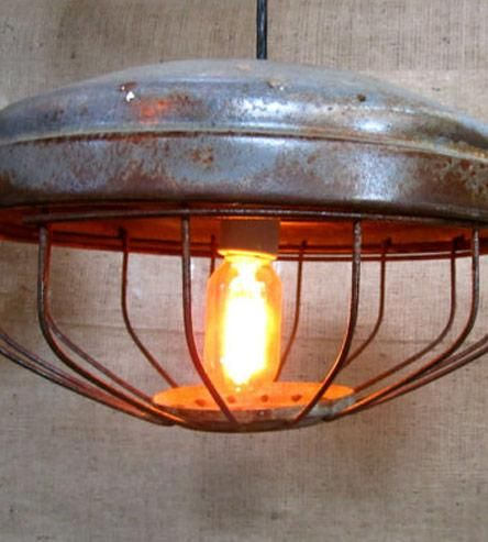 Vintage Industrial Chicken Feeder Hanging Light | Home Lighting | City & Sea Vintage