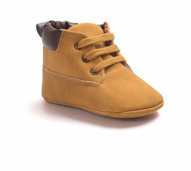 Baby Boy's Lace Up Soft Sole Suede Leather Work Boots (12 Color Options)
