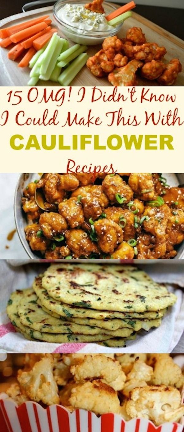 Check out these incredible 15 OMG I Didn't Know I Could Make This With Cauliflower Recipes. You will totally fall in love with cauliflower. This wonderful, nutritious and versatile vegetable …