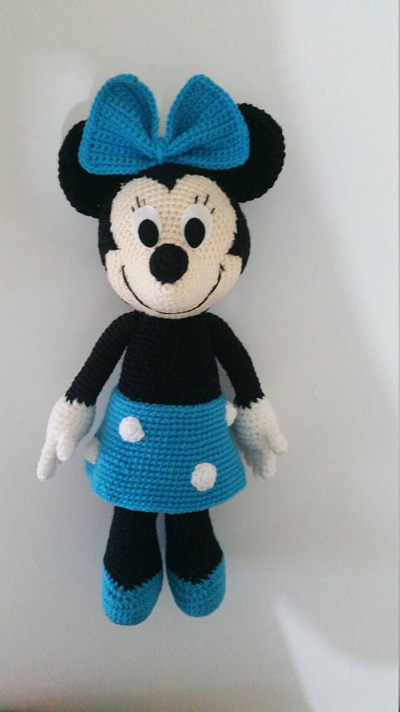 Minnie Mouse 12 Handmade crochet doll gift, birthday gift. - This is a perfect present for someone you love! - I have taken this photo myself, with exact color and design. These dolls are of the best quality that are carefully made by hand. - The color may be a bit lighter due to the