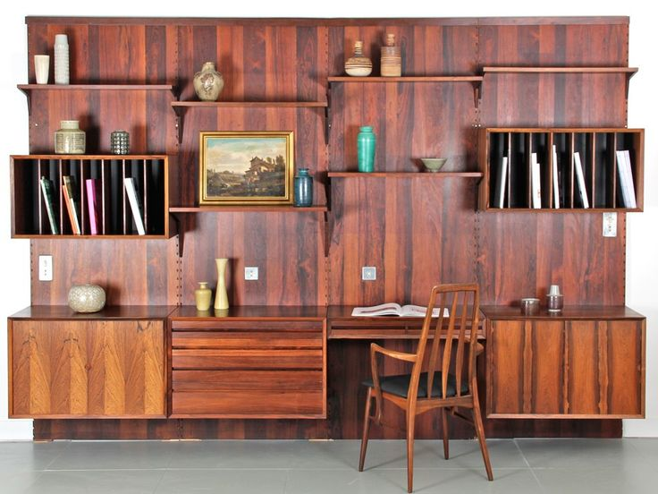 Système royal by Poul Cadovius / CADO wall unity royal system / mid century modern storage