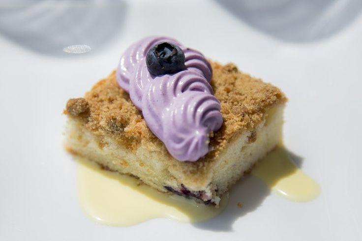Asiate - New York, NY, United States. Sour Cream Crumb Cake, Elderflower-Blueberry Cream