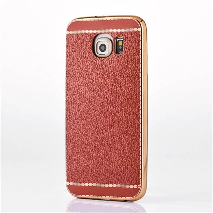 Luxury Litchi Style Soft PU Leather Case Skin Cover For Samsung Galxy S6 G920 S9 edge G925 S6 edge plus S7 G930 S7 edge G935