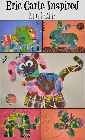 Eric Carle Inspired Animal Crafts #kids #crafts @Shannon Bellanca Bellanca Kendall McMahon Lump Toys