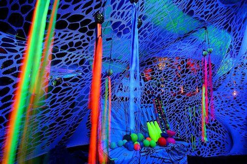 there will be a black light room! so psyched