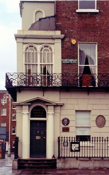 DUBLIN, IRELAND   l   Oscar Wilde, one of Dublin's most famous sons, lived as a child at Number One Merrion Square, Dublin.