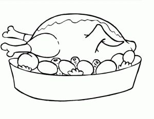 Foods and meals coloring page