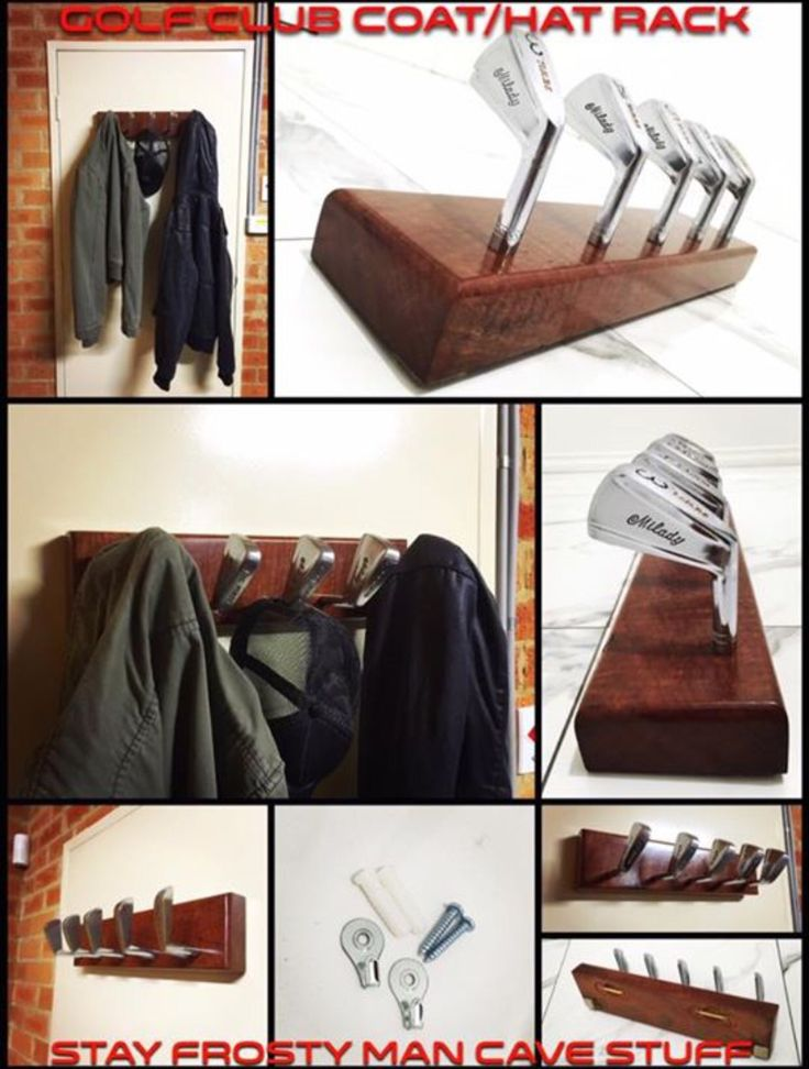 Hand Crafted Golf Club Coat Hat Rack Man Cave Wagga Wagga upcycle DIY $120