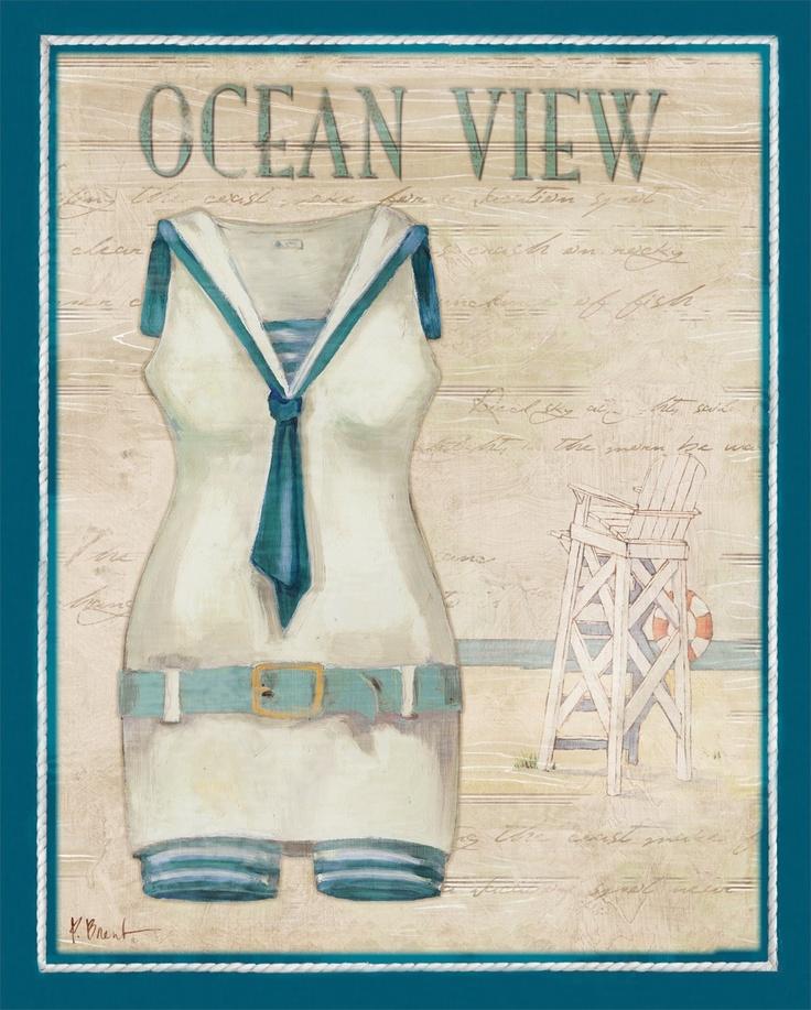 Vintage Bathing Suits III Blue