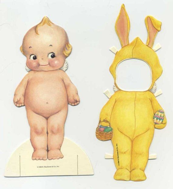 Kewpie paper doll (LOVED my Kewpie doll when I was little!!) ♥