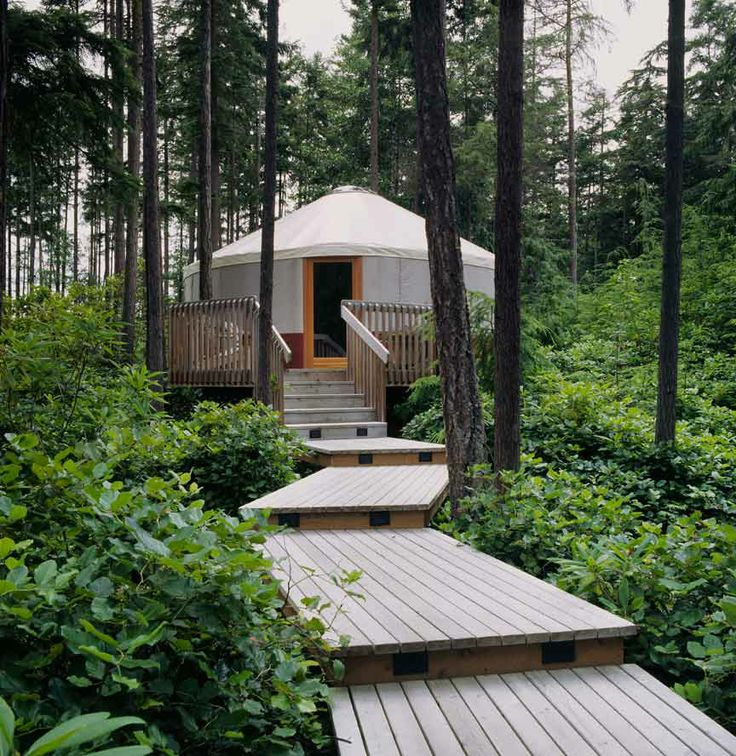 Site where you can buy a yurt. Some assembly required.