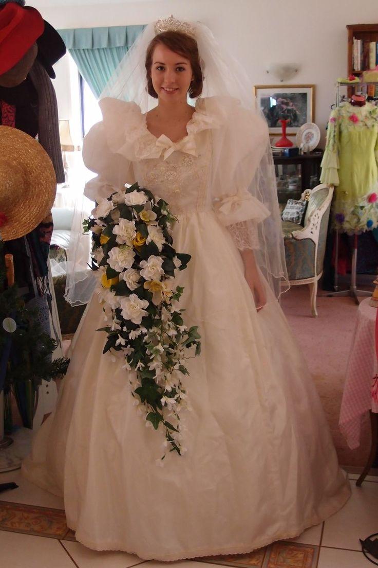 Another shot of my Princess Diana replica wedding dress