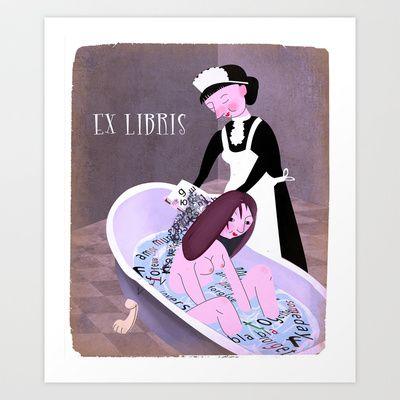 EX LIBRIS Art Print by beatipossidentis - $18.00