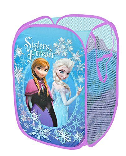 The Disney Frozen Sisters Forever Pop Up Hamper makes a perfect addition to your child's bedroom, closet, or playroom. The pop up hamper is an easy way to maintain organization while adding a playful accent. Your little one will love to put away all their toys, books, clothing and more in this spacious storage hamper featuring his or her favorite character. It's made of 100 percent polyester with mesh siding and reinforced carry handles. Collapsible and lightweight, our pop up hampers are…