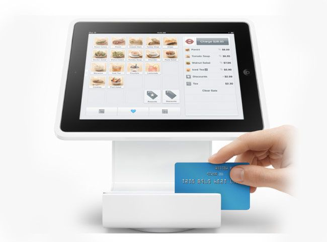 Set up your point of sale in minutes. Plug a cash drawer, receipt printer, and barcode scanner right into the accessories hub and connect a kitchen printer wirelessly. https://squareup.com/stand