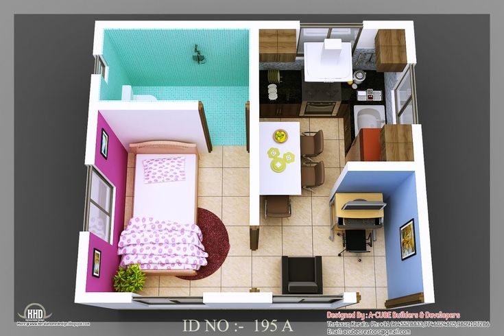 tiny home plans   D isometric views of small house plans   Indian    tiny home plans   D isometric views of small house plans   Indian Home Decor   Home Plans   Pinterest   Small Houses  House plans and Small House Plans