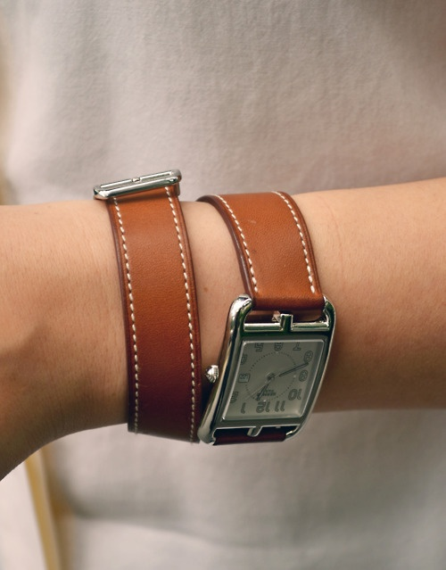 Cape Cod PM double strap watch by Hermes.